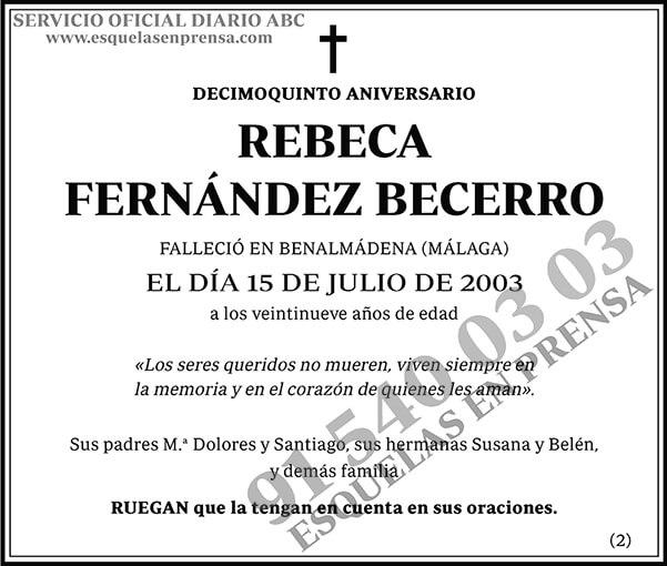 Rebeca Fernández Becerro